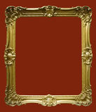Photo of aged golden picture frame Royalty Free Stock Images