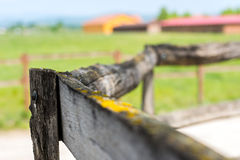 Photo of an aged wooden fence of the ranch Royalty Free Stock Photos