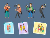 Photo agency Professional Photographs on Choice. Photo agency with professional photographs on choice and samples of portfolio with pictures of happy family royalty free illustration