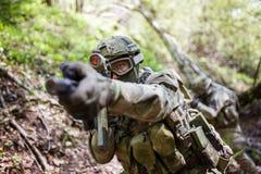 Photo of aiming military man Royalty Free Stock Photo