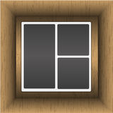 Photo album. In wooden box Royalty Free Stock Photography