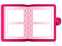 Photo album. Red photo album waiting for your photos royalty free illustration