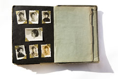 Photo Album. With old stained photos, all photos have been blurred, so you can use the photo frame and put your photo in royalty free stock image