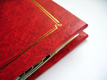 Photo Album. A red photo album royalty free stock photo