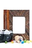 Photo album and camera royalty free stock image