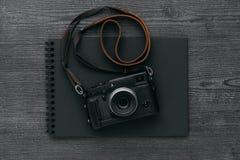 Photo album with camera Royalty Free Stock Photo