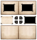 Photo album with frames and corners isolated on white Stock Photo