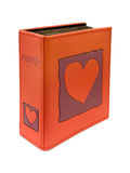 Photo album with heart on cover Royalty Free Stock Image