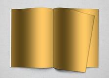 Photo Album Mock-Up Gold texture Stock Images