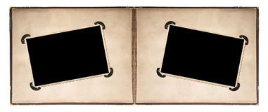 Photo album page with retro style frames and corners Royalty Free Stock Photo