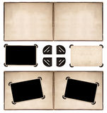 Photo album page with retro style frames and corners Royalty Free Stock Image