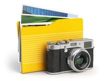 Photo album pc folder icon. Photo camera and folder  on Royalty Free Stock Photos
