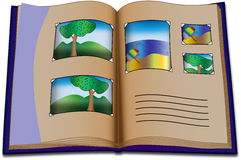 Photo album with photos Stock Photo