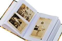 Photo Album With Pictures From 1943 Royalty Free Stock Photography