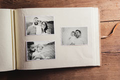Photo album with pictures Stock Photography