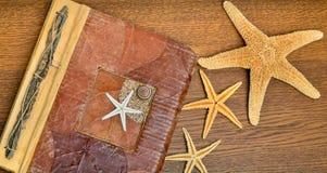 Photo album with starfish. Stock Image