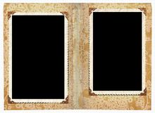 Photo album. Two frames in a photo album for your next project Royalty Free Stock Photos