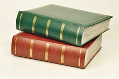 Photo albums. Two albums of photos lying on a white background Royalty Free Stock Photography