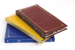 Photo albums. In Different Colours, Brown, Blue,& Yellow Stock Photography