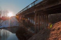Photo aliéné belle du pont d'un angle peu commun Images libres de droits