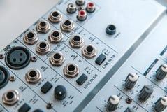 Photo of the analog audio mixer stock image