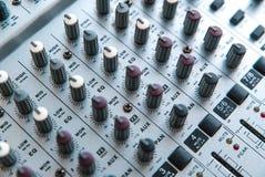 Photo of the analog audio mixer royalty free stock photography