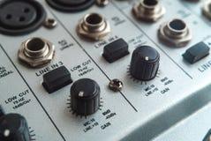 Photo of the analog audio mixer royalty free stock photo