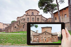 Photo of ancient Basilica in Ravenna, Italy Stock Images