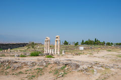 Photo of ancient city Hierapolis Stock Images