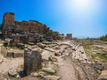 Photo of ancient city Hierapolis Royalty Free Stock Photography
