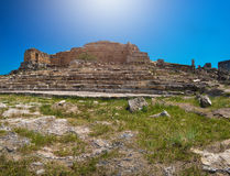 Photo of ancient city Hierapolis Stock Photos