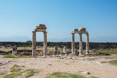 Photo of ancient city Hierapolis Stock Photo