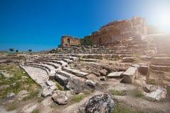 Photo of ancient city Hierapolis Stock Image