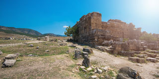 Photo of ancient city Hierapolis Stock Photography