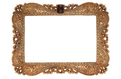 Photo of ancient golden frame. Stock Photo