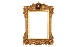 Photo of ancient golden frame. Royalty Free Stock Photos