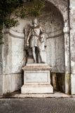 A photo about ancient sculpture near Piazza del Popolo People`s Square, Rome.  royalty free stock photos