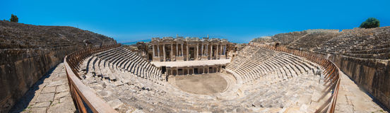 Photo of ancient theatre in the city Hierapolis Royalty Free Stock Image