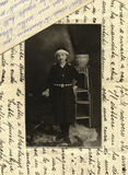 Photo antique de l'original 1915 - jeune fille Images stock