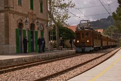 SOLLER`S WOOD TRAIN stock photography