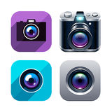 Photo app icons set Royalty Free Stock Image