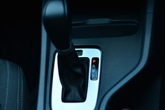 Photo of the automatic transmission park position.  Royalty Free Stock Photo