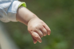 Baby hand stock images