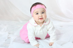 Photo of baby in pink clothes Royalty Free Stock Photography