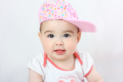 Photo of baby in pink clothes Royalty Free Stock Image