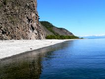 Photo background blue water of lake Baikal in Russia Royalty Free Stock Images