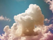 Photo background bright white big clouds Stock Photos