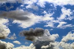 Photo background bright white big clouds Royalty Free Stock Images