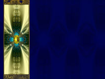 Photo Background  fractal layout design. Photoshop post-processed   fractal flame with jewel and gold photobackground layout design Royalty Free Stock Image