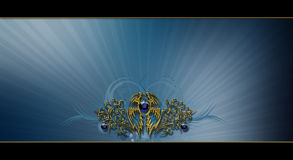Photo Background  ized layout design. Photoshop post-processed  with jewel and gold photobackground  layout design Royalty Free Stock Image